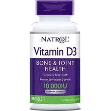 Витамины NATROL Vitamin D3 10000 ME 60 tabs