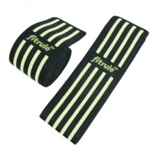 Бинты кистевые FitRule черно-зеленые HARD (пара), 50см