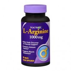 Аргинин Natrol L-Arginine 1000mg (50 табл.)