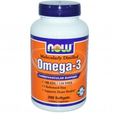 NOW Omega 3 1000 мг. 200 капс.