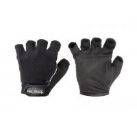 Перчатки Be First черные с вертикальной светлой полосой 310 XL