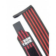 Бинт кистевой 50 cm Irontrue (Черный-Оранжевый)