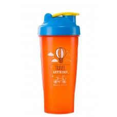 Спортивный шейкер 2DТрейд  «Travel»  Оранжевый 600 мл.